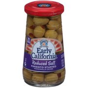 (3 Pack) Early California Reduced Salt Pimiento Stuffed Manzanilla Olives 5.75 oz. Jar