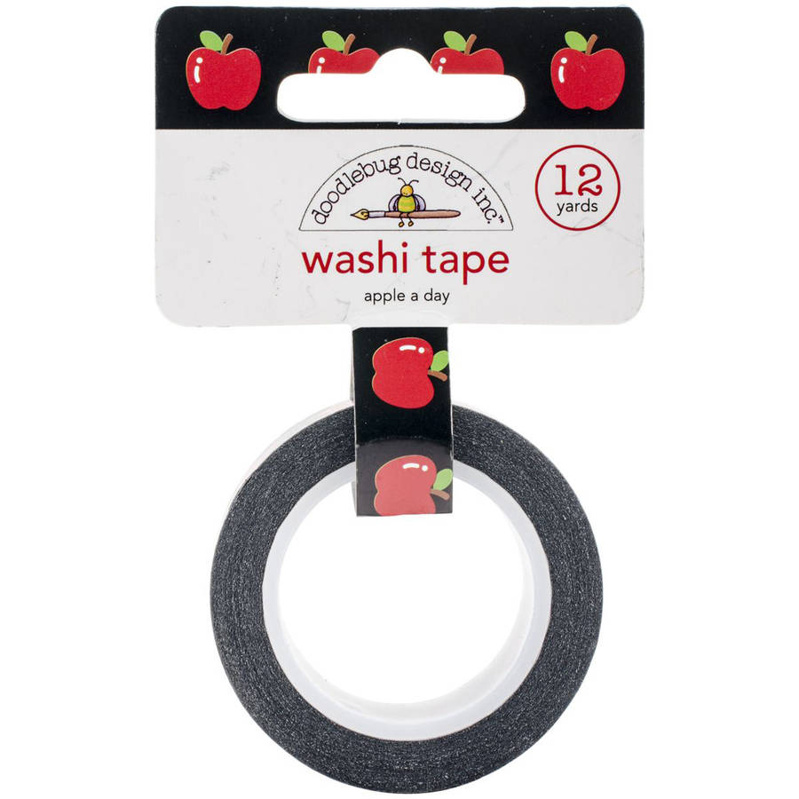 School Washi Tape, 8mm, 12 yds