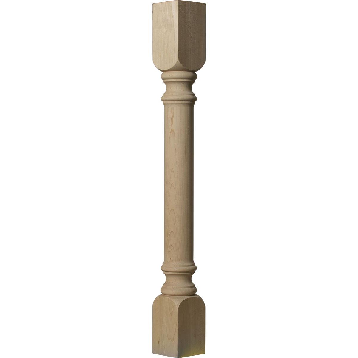 "3 3/4""W x 3 3/4""D x 35 1/2""H Traditional Cabinet Column (Top Block: 6 1/8"", Bottom Block: 7 ..."