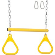 Swing Set Stuff Inc. Trapeze Bar with Rings and Uncoated Chain (Yellow)