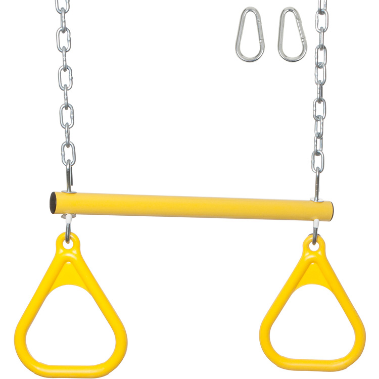 Swing Set Stuff Inc Trapeze Bar With Rings And Uncoated Chain