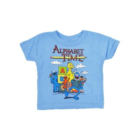 Baby Boys Sesame Street Alphabet T-Shirt Big Bird Cookie (Boys Sesame Street Big Bird)