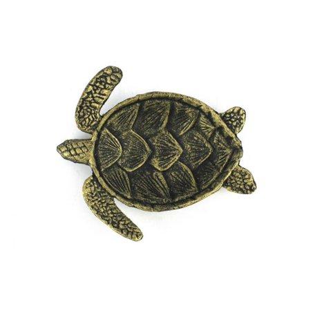 Antique Turtles (Antique Gold Cast Iron Sea Turtle Decorative Bowl 7