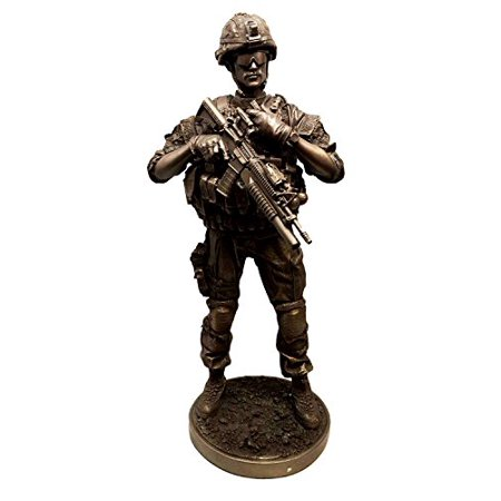 MILITARY SPECIAL ARMED FORCES REPORTING FIELD STATUS STATUE SCULPTURE