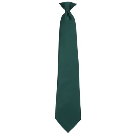 Mens Extra Long Big and Tall XL Solid Color Clip On Easy to Remove Clip Necktie Ties Pink Polyester Extra Long Ties