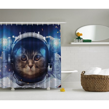 Astronaut cat in space astronomy novelty gifts art decor for Space cat fabric