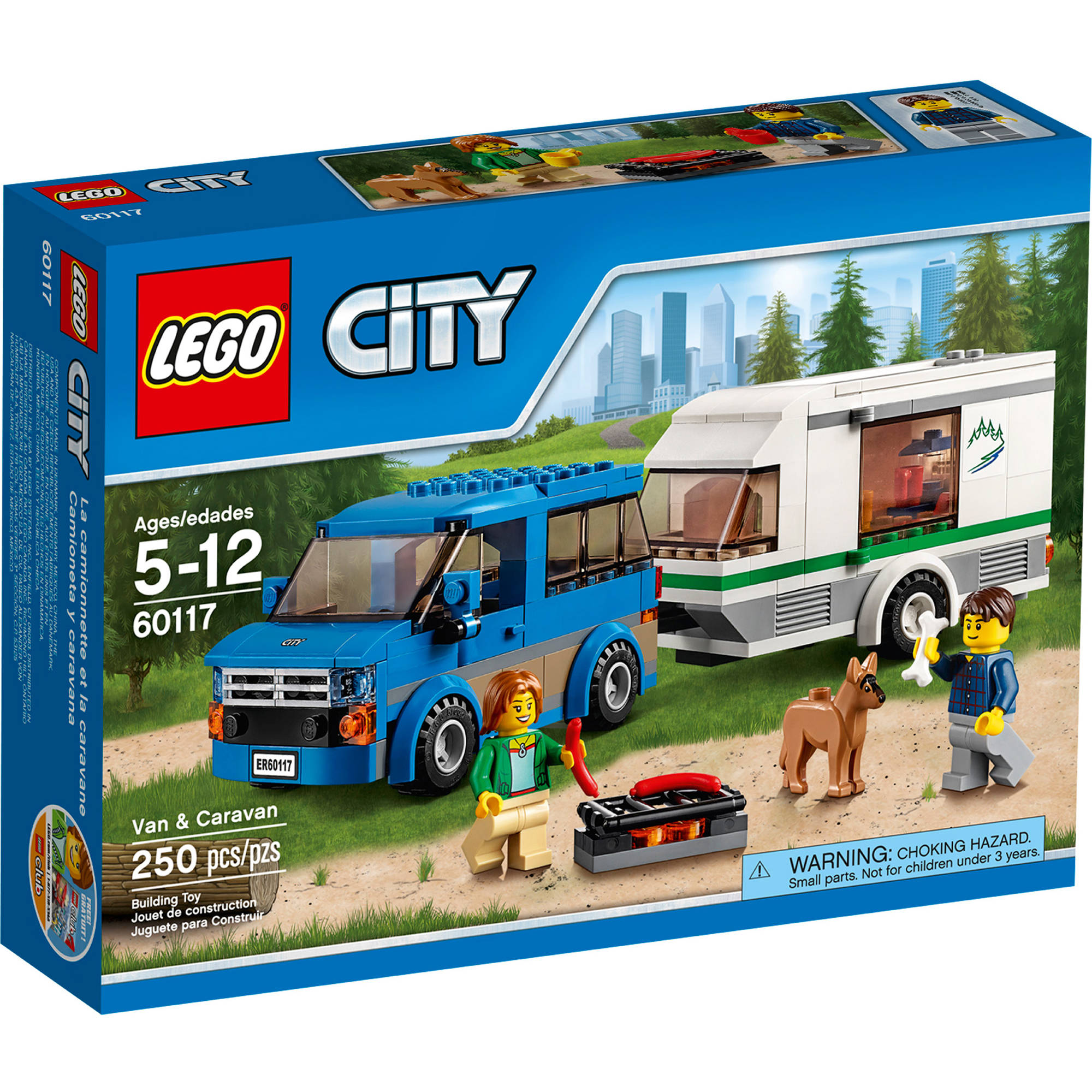 LEGO City Great Vehicles Van & Caravan 60117