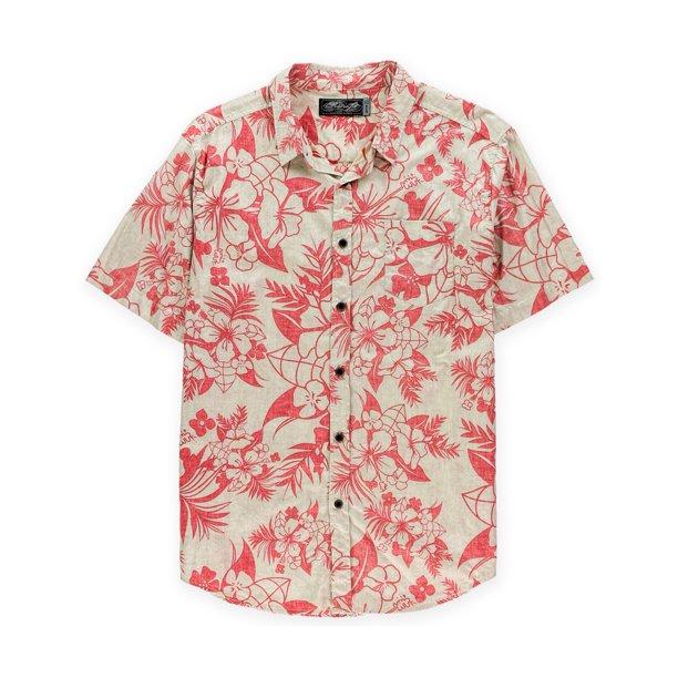 Retrofit Mens Hawaiian Button Up Shirt