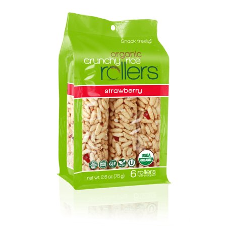 (2 Pack) Crunchy Rice Rollers, Strawberry, 6 Ct