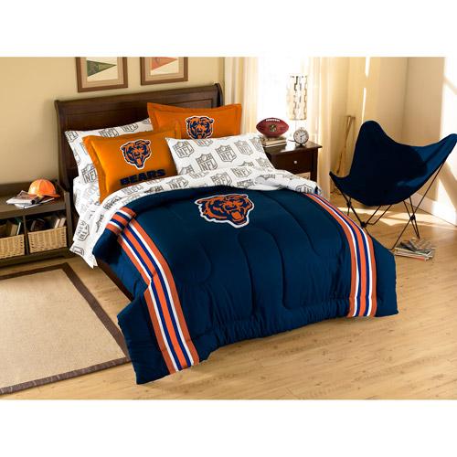 NFL Applique Bedding Comforter Set with Sheets, Bears