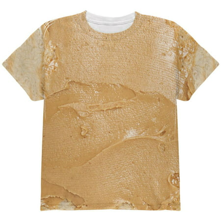 Halloween Peanut Butter PB Sandwich Costume All Over Youth T - Hotdog Sandwich Halloween