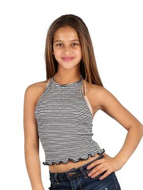 2d711b28a4f Product Image Lori & Jane Girls Black White Stripe Summer Trendy Cropped  Tank Top