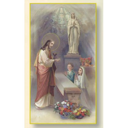 WJH FIRST COMMUNION BOY AND GIRL HOLY CARD (Pack of 100)