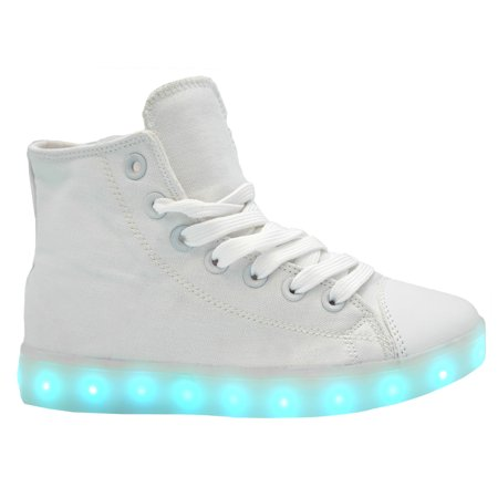 16853efd4f04f Galaxy LED Shoes Light Up USB Charging High Top Canvas Women Sneakers  (Black)