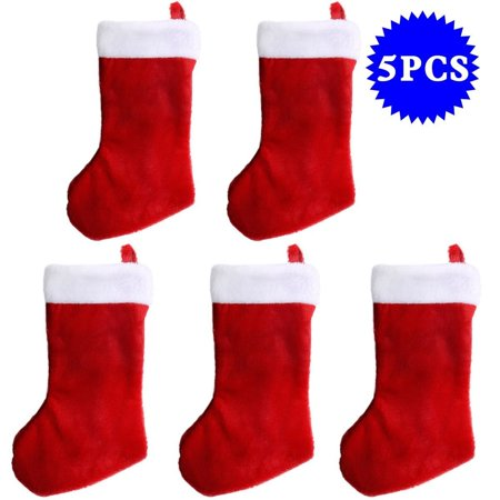 New Mtn G Soft Tree Hanging Decoration Christmas Stockings Sack Socks Gift Bag 5 Pcs