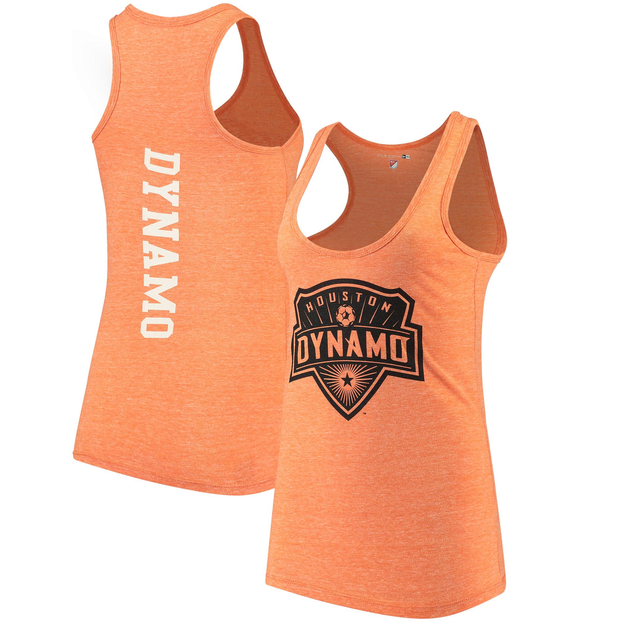 Houston Dynamo 5th & Ocean by New Era Women's Tri-Blend Racerback Tank Top - Orange