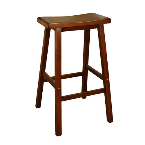 American Heritage Sumatra 24 Inch Counter Height Saddle Stool