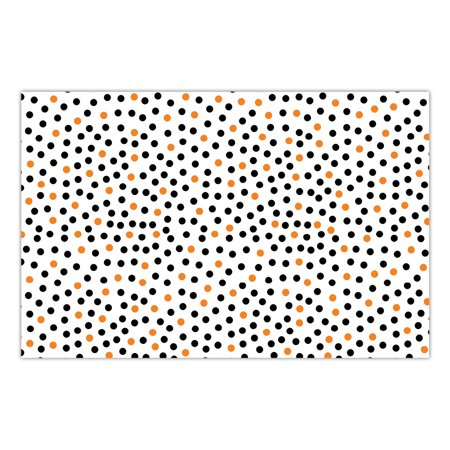 DB Party Studio 25 Pack Paper Placemats Fun Halloween Polka Dots Adult Child Teen Kids School Costume Parties Brunch Lunch Snack Time Disposable Easy Cleanup 17