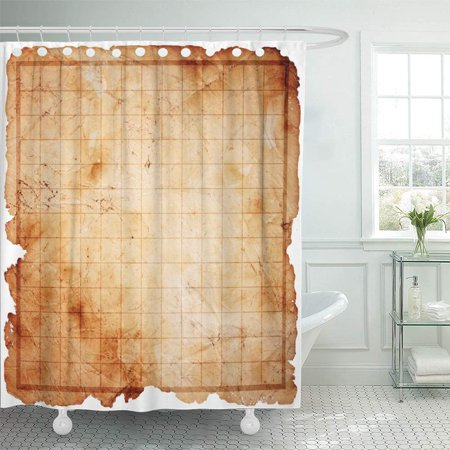 PKNMT Game Blank Pirate Treasure Map Sea Abstract Age Aged Antique Burn Chart Bathroom Shower Curtain 66x72 inch](Pirate Treasure Map Game)