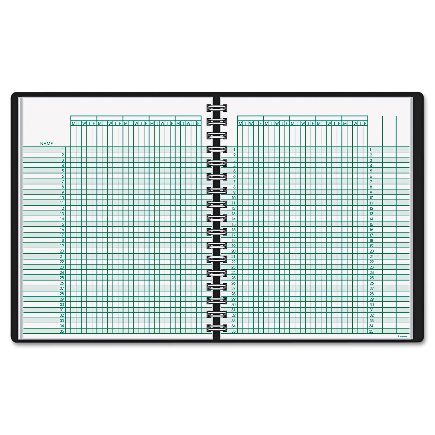 AT-A-GLANCE Undated Class Record Book, 10 7 8 x 8 1 4, Black -AAG8015005 by AT-A-GLANCE