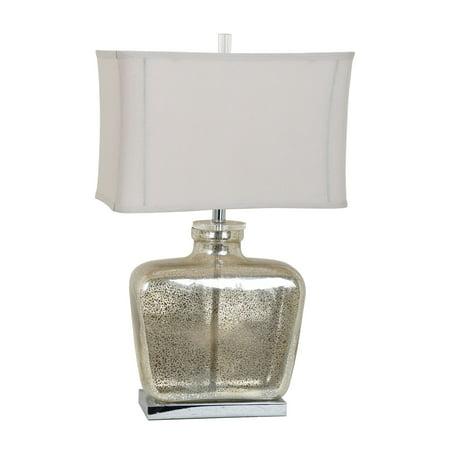 Celine 27.5-Inch Table Lamp, Mercury and Nickel