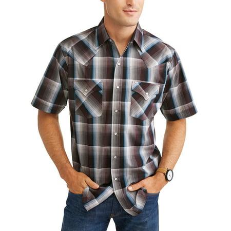 Heritage Plaid Shirt - Big And Tall Men's Short Sleeve Plaid Western Shirt