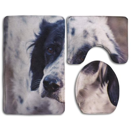 XDDJA Cute Dog Breed Puppy 3 Piece Bathroom Rugs Set Bath Rug Contour Mat and Toilet Lid Cover - image 2 de 2