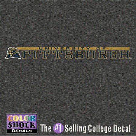 Pittsburgh Panthers Decal Strip - Mascot W/ University Of Pittsburgh Panthers (Panther Mascot)