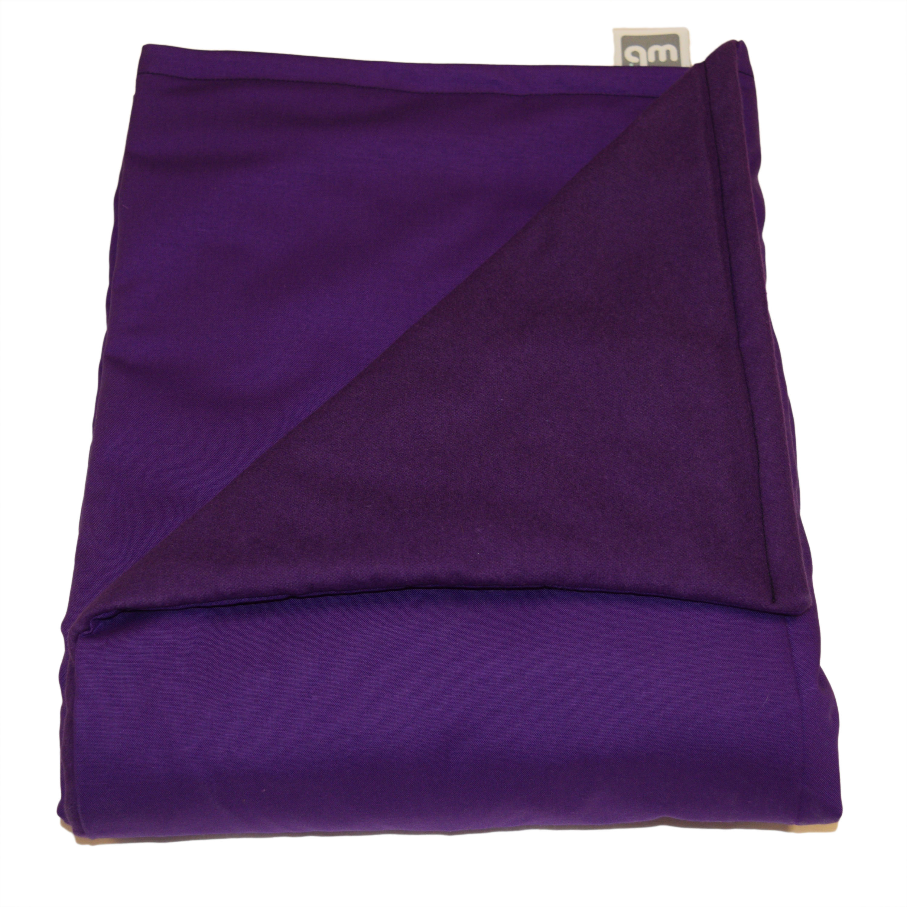 """WEIGHTED BLANKETS PLUS LLC - ADULT EXTRA LARGE WEIGHTED BLANKET - PURPLE - COTTON/FLANNEL (80""""L x 58""""W) 25lb HIGH PRESSURE."""