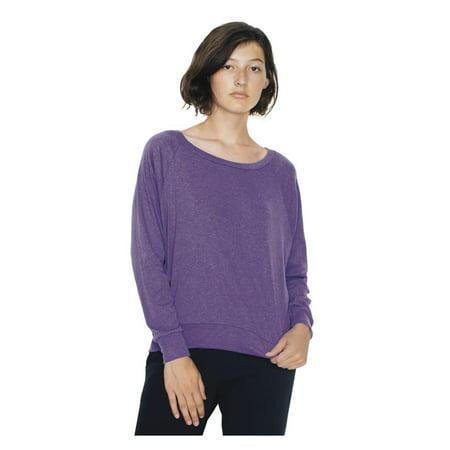 American Apparel T-Shirts - Long Sleeve Women's Tri-Blend Lightweight Raglan Pullover BR394W