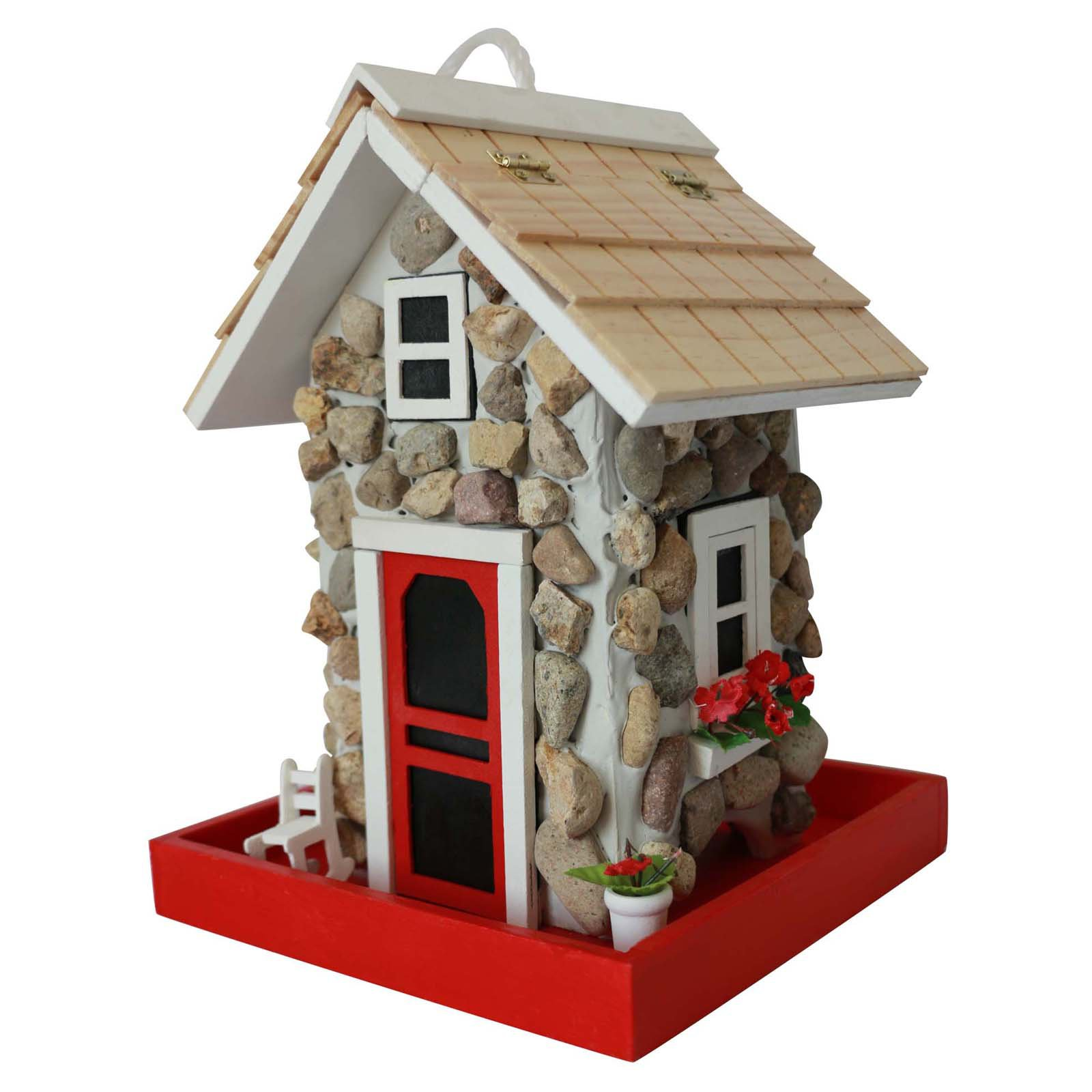 Home Bazaar Fieldstone Guest Cottage Bird Feeder