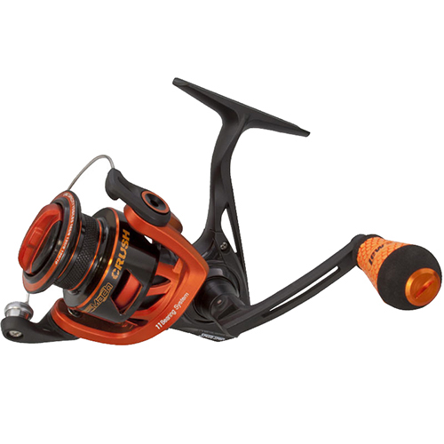 "Click here to buy Lews Fishing Mach Crush Speed Spinning Reel 400 Reel Size, 6.2:1 Gear Ratio, 35"" Retrieve Rate, 11 Bearings,... by Lews Fishing."