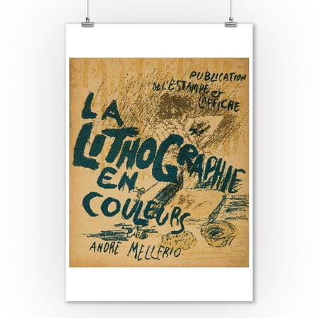 La Lithographie en Couleurs Vintage Poster (artist: Bonnard) France c. 1898 (9x12 Art Print, Wall Decor Travel - La Date D'halloween En France