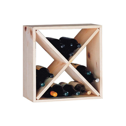 Wine Cellar Innovations Country Pine Cube 24 Bottle Floor Wine Rack
