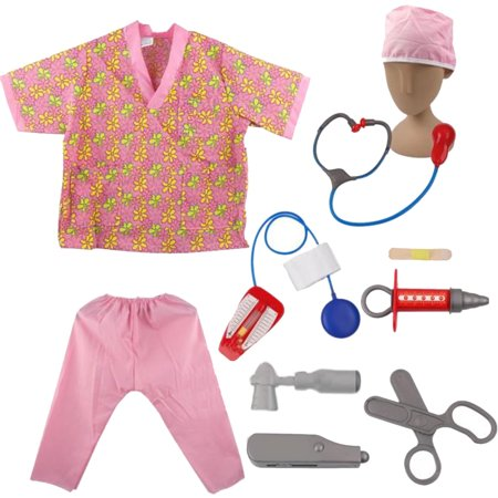 Cheap Halloween Costumes Ideas For Guys (TopTie Nurse Role Play Set Dress Up Surgeon Costumes Set for Kids Great Gift)