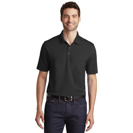 Port Authority 1236934 Dry Zone UV Micro-Mesh Polo Shirt, Deep Black - Large