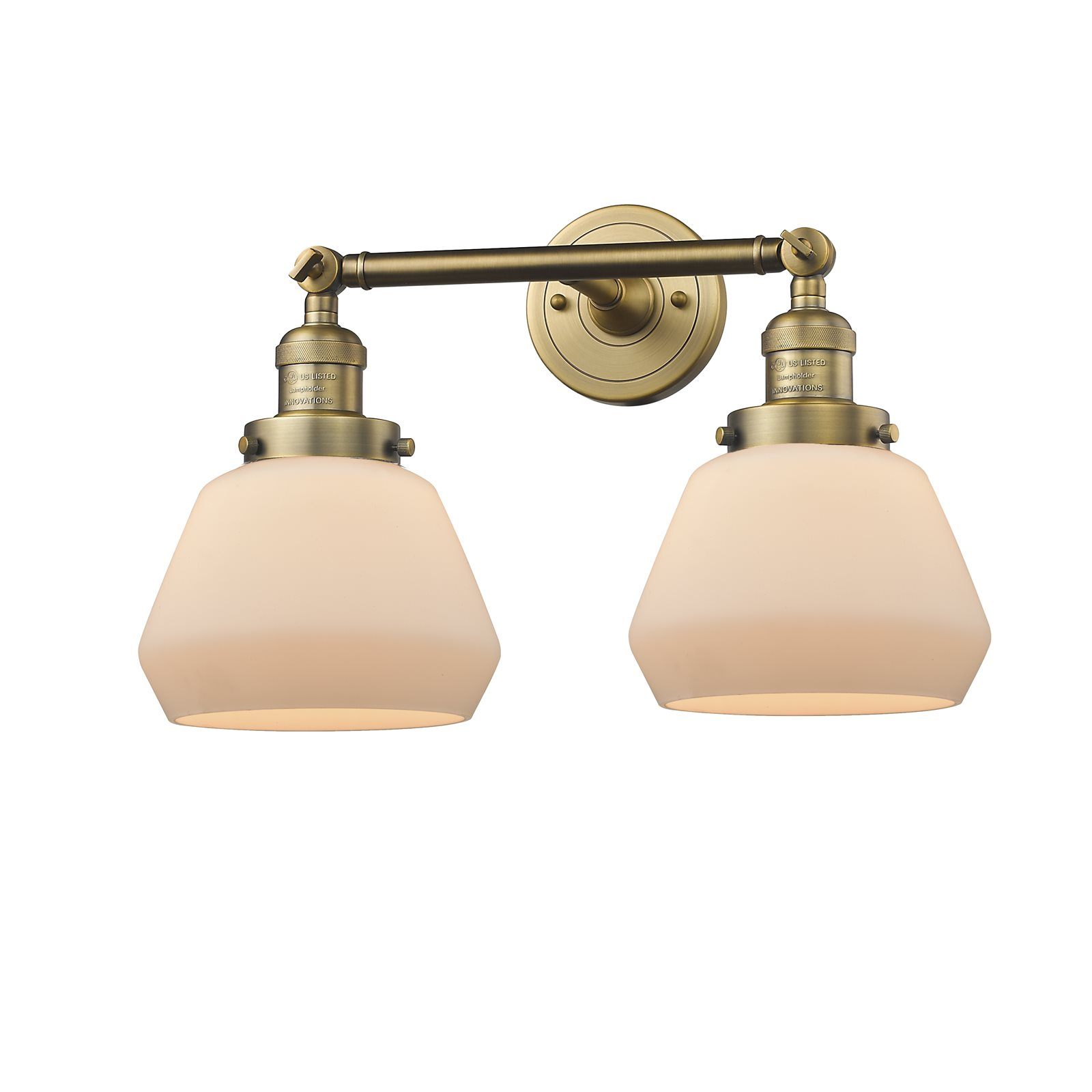 """Innovations 2-LT LED Fulton 16.5"""" Bathroom Fixture Brushed Brass 208-BB-G171-LED by"""