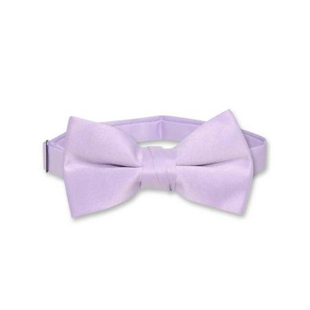 Vesuvio Napoli BOY'S BOWTIE Solid LAVENDER PURPLE Color Youth Bow Tie (Lavender Booties)