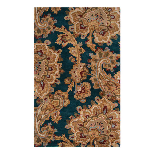Surya Sea Teal & Brown Area Rug