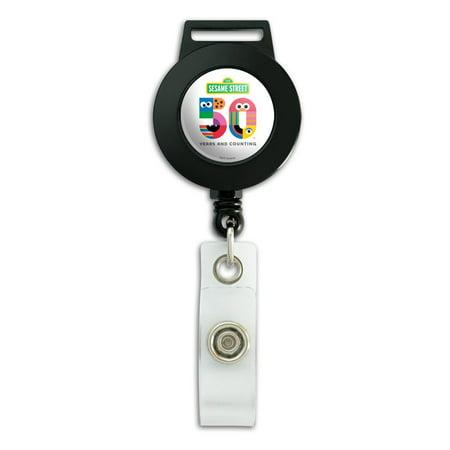 Sesame Street 50th Anniversary Logo Lanyard Retractable Reel Badge ID Card Holder