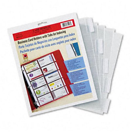Tabbed business card binder pages 20 cards per letter page clear tabbed business card binder pages 20 cards per letter page clear 5 pages reheart Images