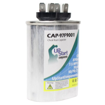7.5 MFD 370 Volt Oval Motor Run Capacitor Replacement for Nordyne B1BM042K-B - CAP-97F9001, UpStart Components Brand - image 2 of 4