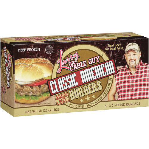 Larry the Cable Guy Classic American Burgers, 5.3 oz, 6 count