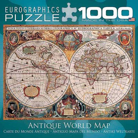 Eurographics antique world map 1000 piece puzzle small box eurographics antique world map 1000 piece puzzle small box gumiabroncs Image collections