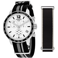Deals on Tissot Quickster Chronograph Silver Dial Mens Watch