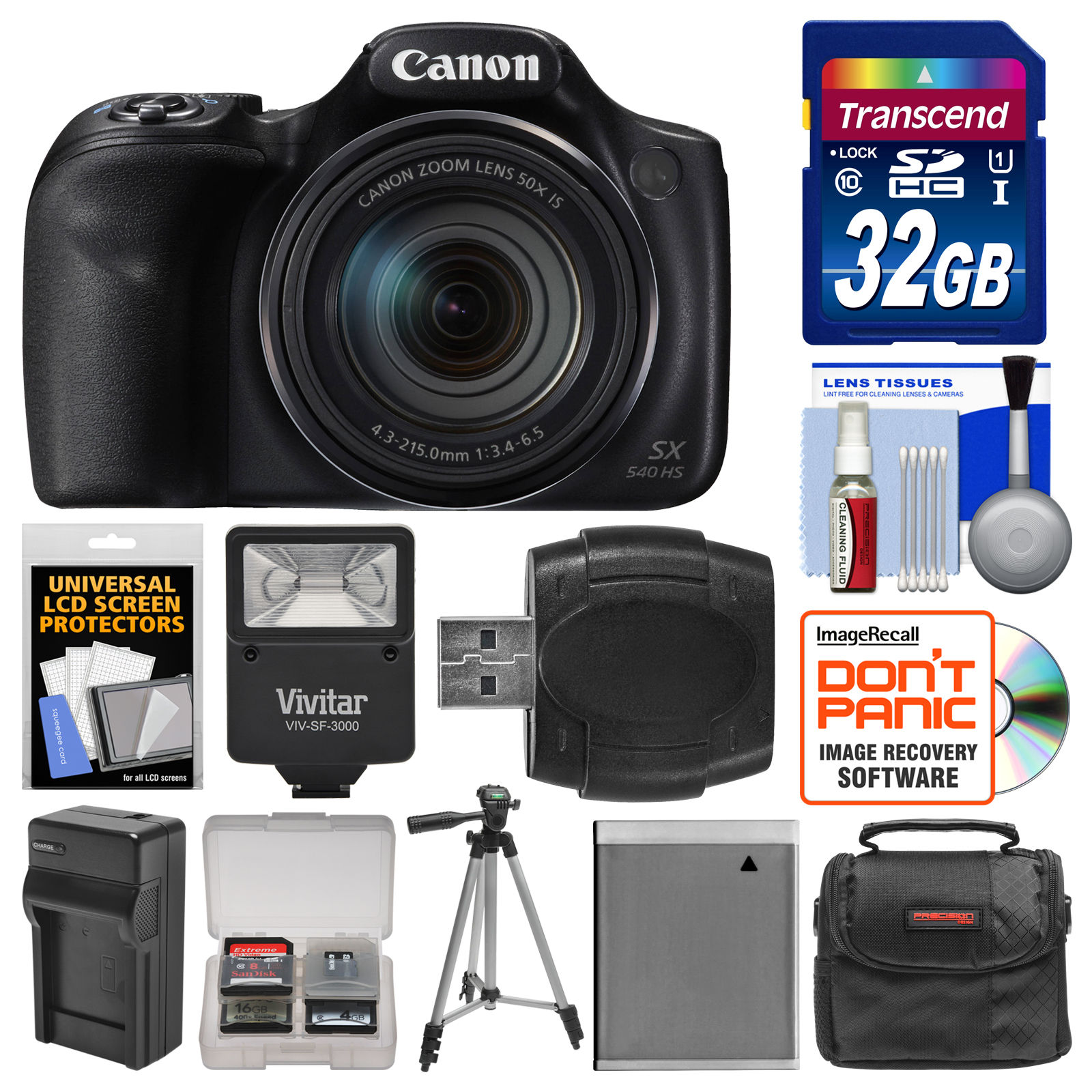 Canon Powershot Sx540 Hs Wi Fi Digital Camera With 32gb