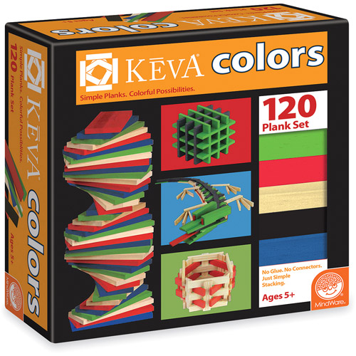 KEVA Colors, 120 Plank Set