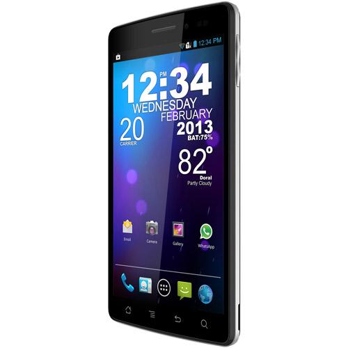 BLU Quattro 5.7 HD D460 GSM Phone (Unlocked), Black