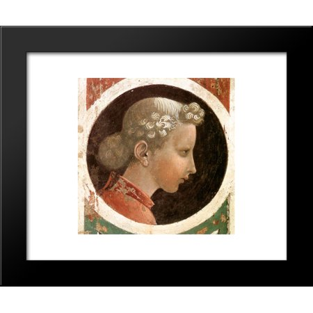 Roundel with Head 20x24 Framed Art Print by Paolo Uccello