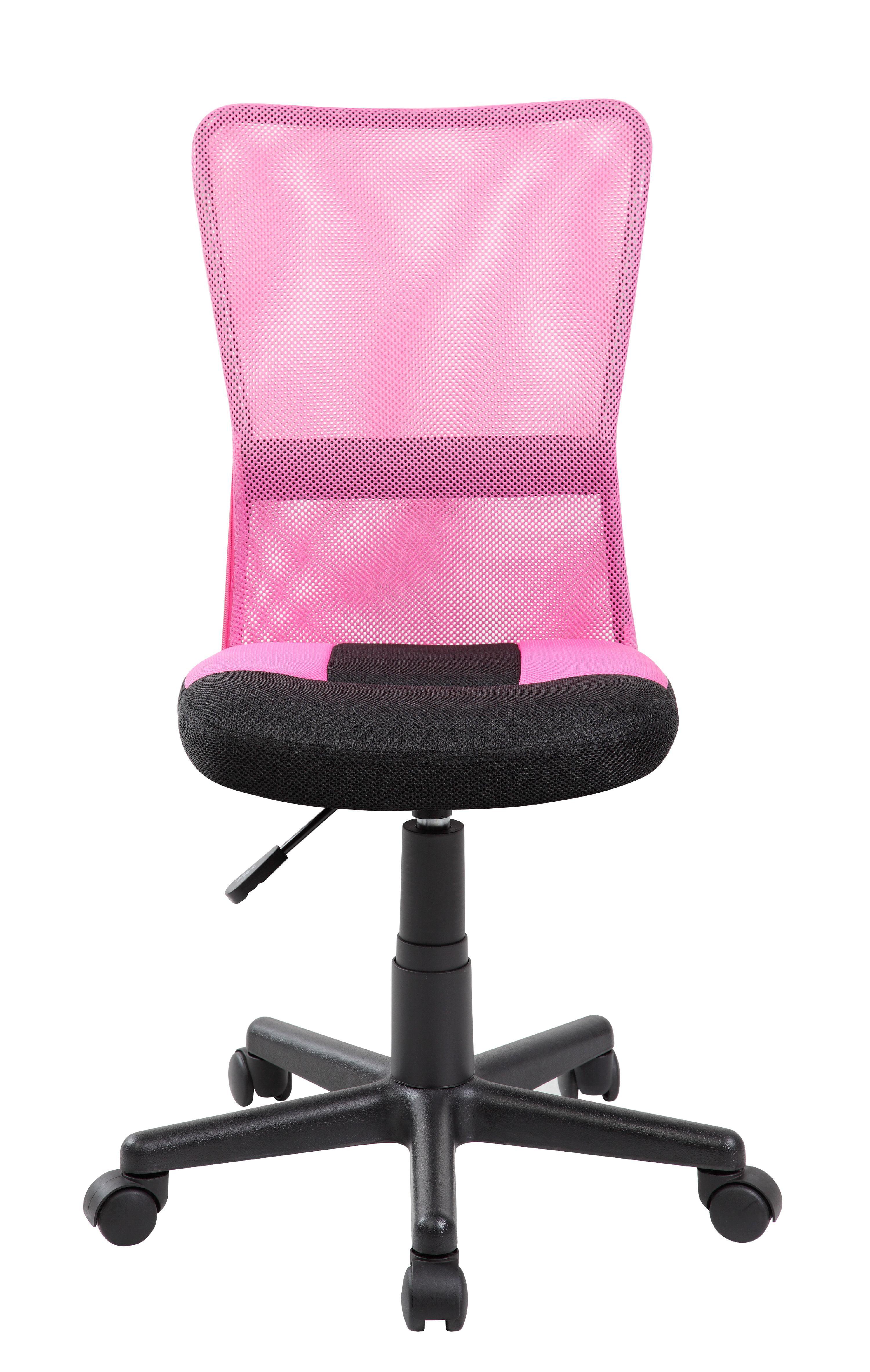 Mid back Adjustable Ergonomic Pink&Black Mesh Swivel puter